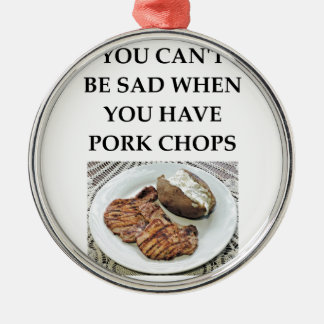 pork chops metal ornament
