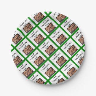 pork chops paper plate