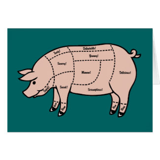Pork Cuts Greeting Card