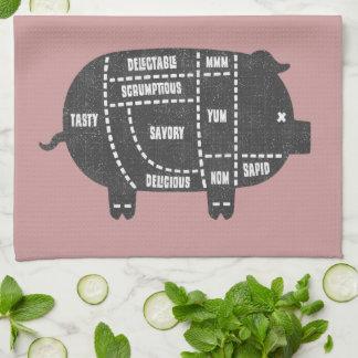 Pork Cuts III Tea Towel