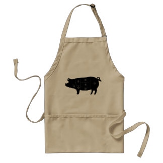 Pork Meat Cuts Butcher Shop Gifts Standard Apron