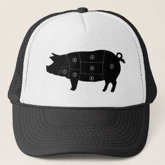 Pork Meat Cuts Butcher Shop Gifts Trucker Hat