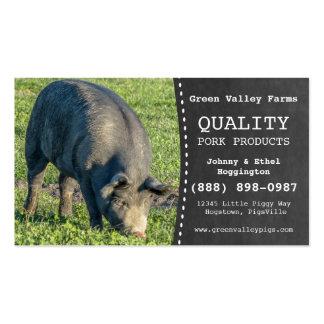 Pork Producer Hog Pig Farm Pack Of Standard Business Cards