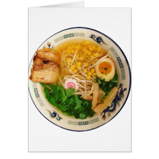 Pork Ramen Noodle Soup Card