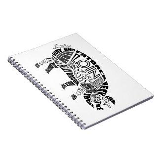 Pork Typogram Notebook