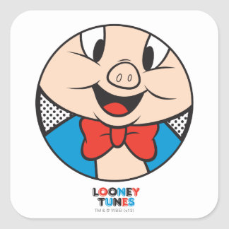 Porky Dotty Icon Square Sticker