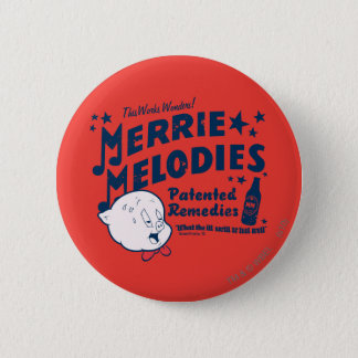 Porky MERRIE MELODIES™ Remedies 2 6 Cm Round Badge