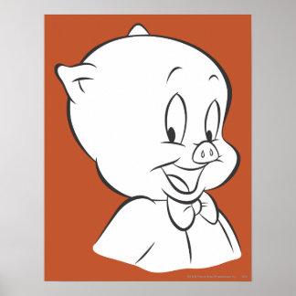 Porky Pig Expressive Expressive Expressive 4 Poster