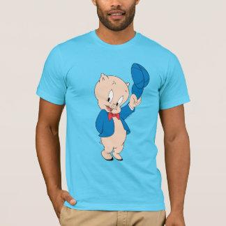 Porky Pig | Waving Hat T-Shirt