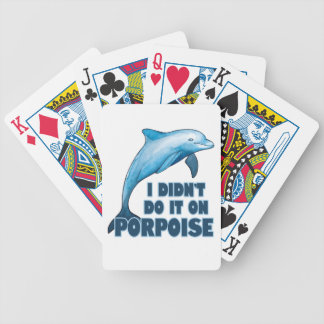 Porpoise Funny animal pun Bicycle Playing Cards