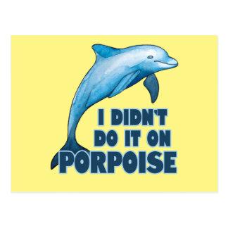 Porpoise Funny animal pun Postcard