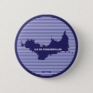 Porquerolles swipes in 6 cm round badge