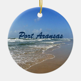 Port Aransas Beach in Texas Ceramic Ornament