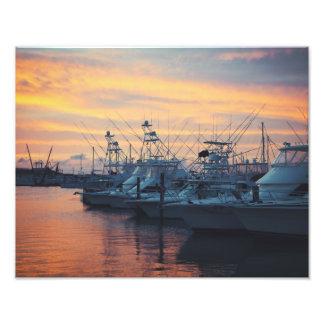 Port Aransas Marina Sunset Art Photo