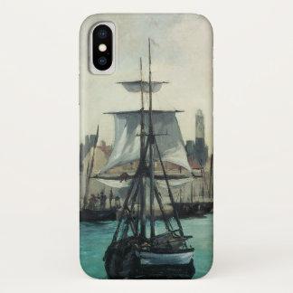 Port at Calais by Manet, Vintage Impressionism Art iPhone X Case