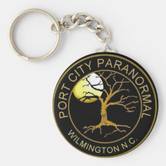 Port City Paranormal Basic Round Button Key Ring