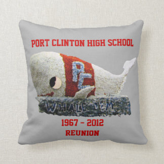PORT CLINTON HIGH 1967 REUNION THROW PILLOW
