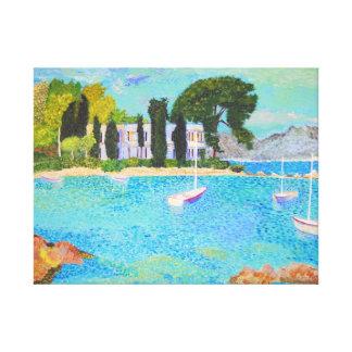 Port de L'Olivette - France Canvas Print