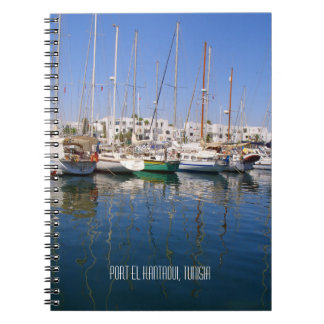 Port el Kantaoui Harbour Waterfront Boats Tunisia Notebook