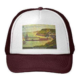 Port-En-Bessin By Seurat Georges Trucker Hat