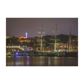 Port Hamburg Canvas Print