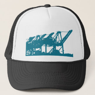 Port Harbror Cranes in Blue Hat