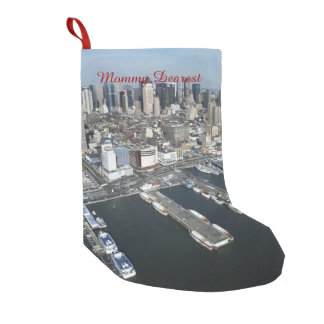 Port in New York City Small Christmas Stocking