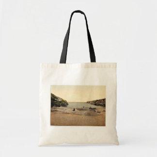 Port Isaac, Port Gavern, Cornwall, England classic Canvas Bags