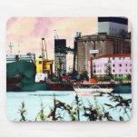 port landscape mousemats