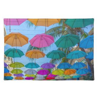 port louis le caudan waterfront umbrellas cap placemat