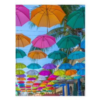port louis le caudan waterfront umbrellas cap postcard