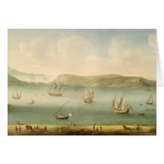 Port Mahon, Minorca, 1730's (oil on canvas) Greeting Card