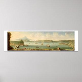 Port Mahon, Minorca, 1730's (oil on canvas) Poster