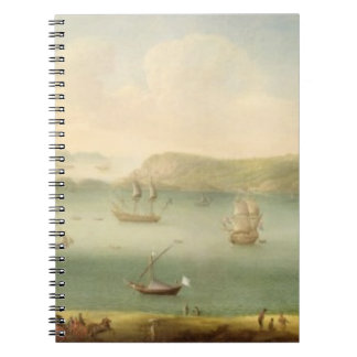 Port Mahon, Minorca, 1730's (oil on canvas) Spiral Notebooks