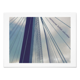 port mann bridge vancouver b.c photo print