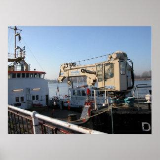 Port of Antwerp, Belgium; support vessels 10 Poster