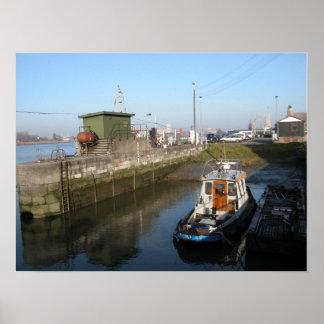 Port of Antwerp, Belgium; support vessels 5 Poster