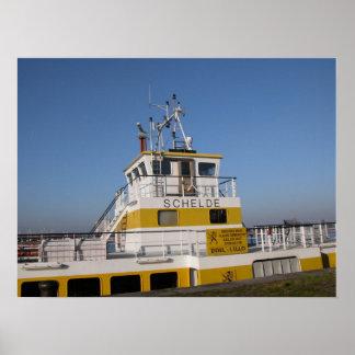 Port of Antwerp, Belgium; support vessels 8 Poster