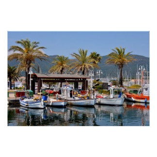 Port of Cavalaire-sur-Mer in France Posters
