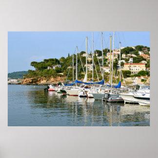 Port of Le Pradet in France Posters