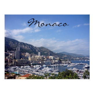port of monaco postcard