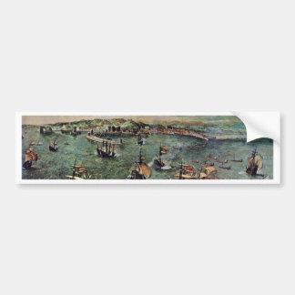 Port Of Naples By Bruegel D. Ä. Pieter Bumper Stickers