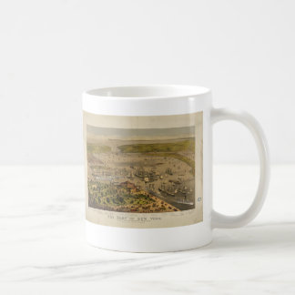 Port of New York by Currier & Ives in 1878 Coffee Mugs