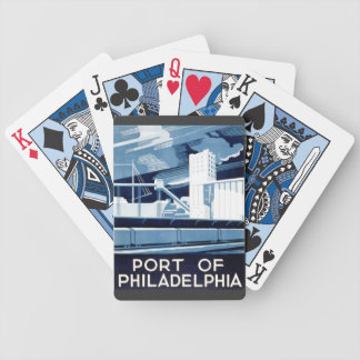 Port of Philadelphia Pennsylvania WPA 1936 Bicycle Playing Cards