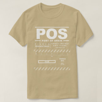 Port of Spain Piarco Int'l Airport POS T-Shirt