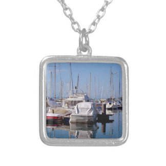 Port of Thonon les Bains in France Silver Plated Necklace