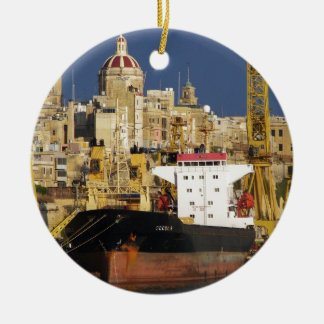 Port of Valletta. Ceramic Ornament