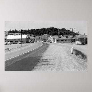 Port Orford, Oregon Town View Photograph Print