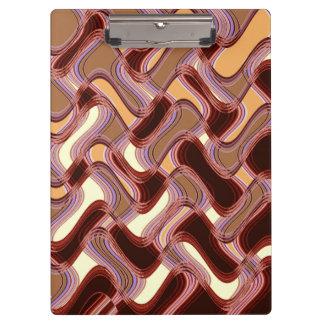 Port & Peach Clipboard by Artist C.L. Brown