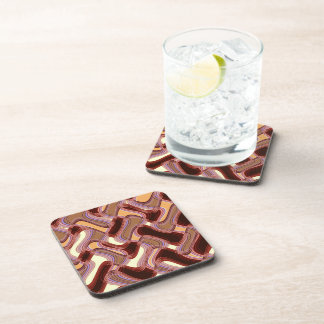 Port & Peach Hard Plastic Coasters Set